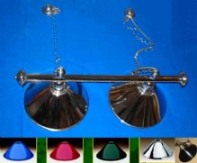 ROSETTA CHROME POOL SNOOKER TABLE LIGHTING LIGHT.SHADE CHOICE.HIGH QUALITY